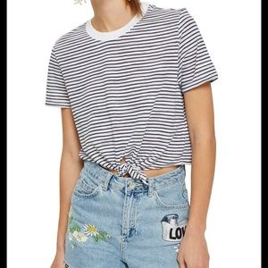 Topshop Knot Front T shirt